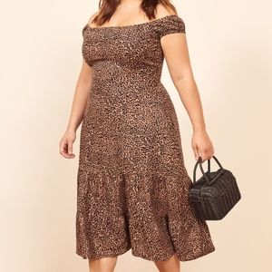 Reformation Toulouse Leopard Print Bengal Dress 20